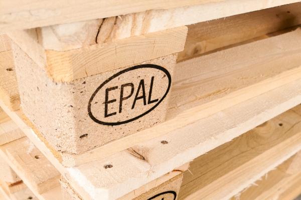 EPAL Paleta derwniana z wypalanym znakiem wspornik drewniany wielorazowa